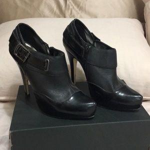 """Bakers Dress Bootie Black leather 5"""" heel"""